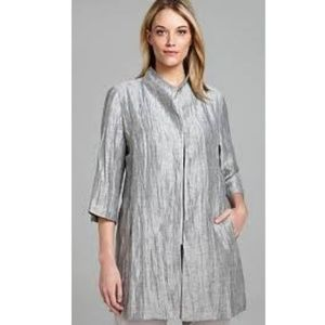 Eileen Fisher Linen And Silk Coat Size MD